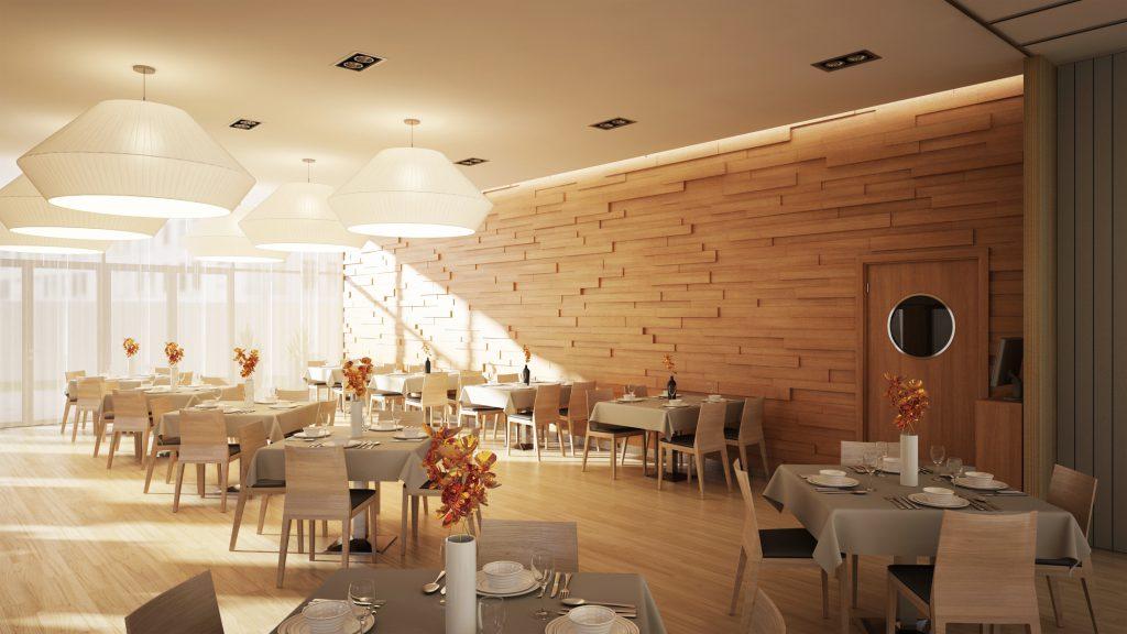 Étterem enteriőr kialakítása