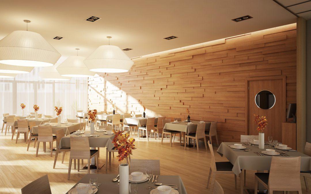 Zöldfa étterem és bár enteriőr tervezése